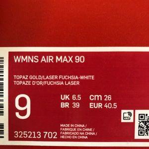 Nike Shoes - ✔️ New✔️ NIKE topaz gold Air Max 90 ~ 9
